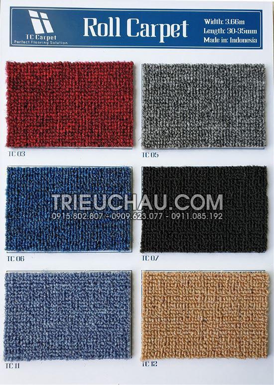 Hình ảnh thảm trải sàn Roll Carpet 1